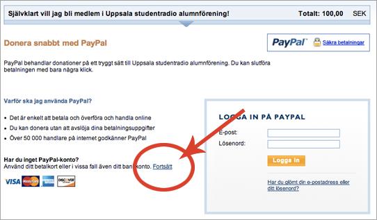 Instruktion för Paypal